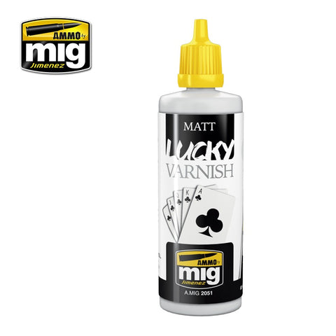 AMMO by MiG Jimenez MATT LUCKY VARNISH 60mL jar - AMIG2051