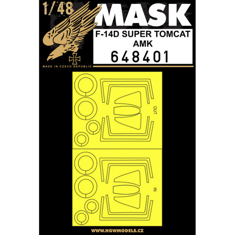 HGW 1/48 scale paint masks for F-14D Super Tomcat by AMK - 648401