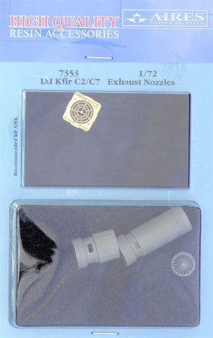 Aires 1/72 resin IAI Kfir C2/C7 exhaust nozzles for AMK kit - 7353