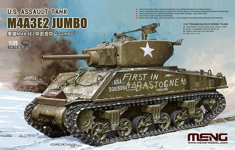 Meng Model 1/35 Scale U.S. Assault Tank M4A3E2 Jumbo  - Model Kit TS-045