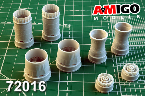 Advanced Modeling 1/72 AMG72016 resin D-30F6 exhaust nozzle for MiG-31B/BM kits
