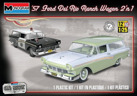 MONOGRAM 1/25 scale 1957 FORD Del Rio Ranch Wagon 2'n1 Car Show kit#85-4193