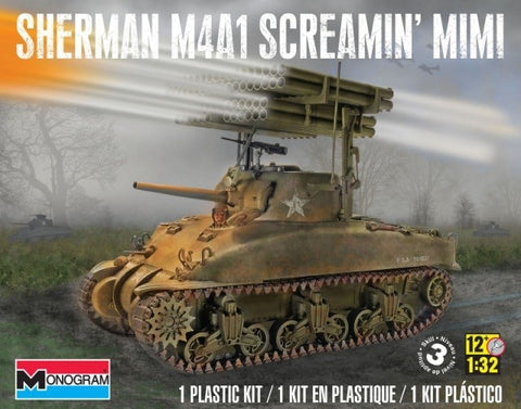 MONOGRAM 1/32 Sherman Screamin'  MIMI Rocket Launcher #85-7863