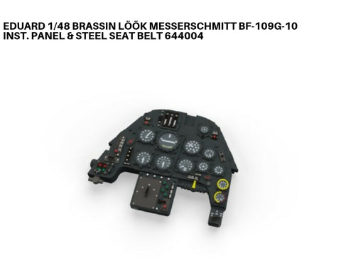 Eduard 1/48 Brassin LööK Bf-109G-10 inst panel & steel seatbelts - 644004