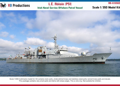 RB Productions 1/350 scale L.E. Roisin (P51) Irish Naval Service OPV - K13502