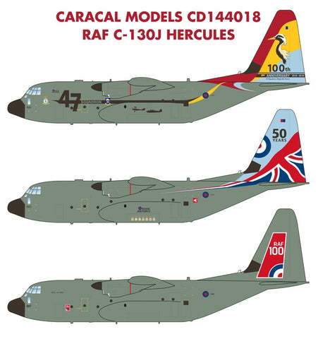Caracal Models 1/144 decals CD144018 for RAF C-130J Hercules Minicraft model kit