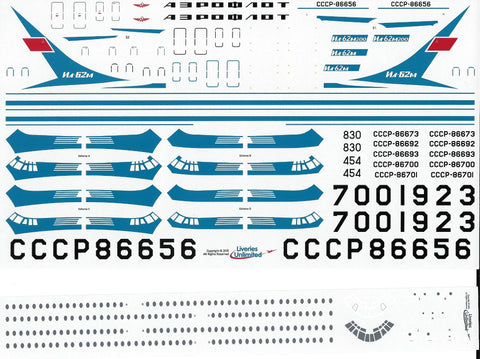 Fundekals 1/144 Decals Aeroflot Delivery IL-62s Liveries Unlimited - FUN14-011