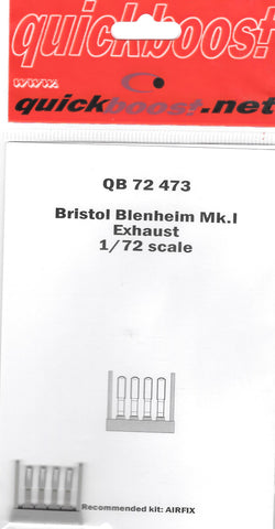 Quickboost Resin 1/72 Bristol Blenheim Mk.I Exhaust for Airfix - QB72473