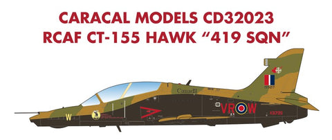 Caracal Models 1/32 decal CD32023 RCAF CT-155 Hawk 419 Sqn for Kinetic kit