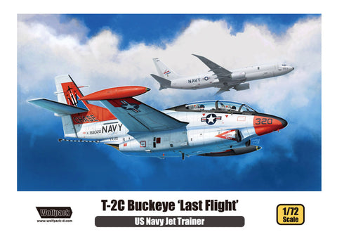 Wolfpack 1/72 scale model kit WP10011 T-2C BUCKEYE LAST FLIGHT USN JET TRAINER