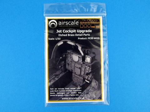 Airscale 1/32 Etched Brass Detail Parts Jet Cockpit Upgrade - PE32MOD