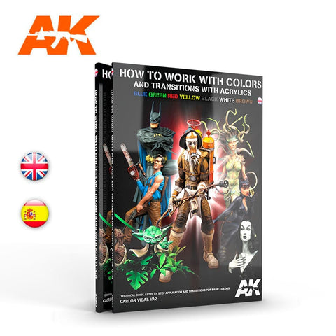 AK Interactive How to Work with Colors and Transitions with Acrylics - AK293 book
