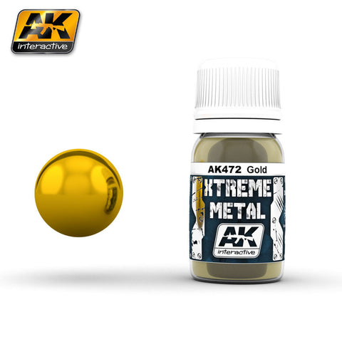 AK Interactive AK-472 XTREME METAL GOLD 30mL enamel