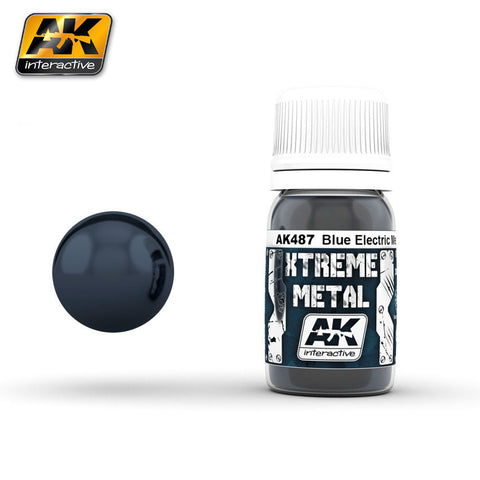 AK Interactive AK-487 XTREME METAL BLUE ELECTRIC 30mL enamel