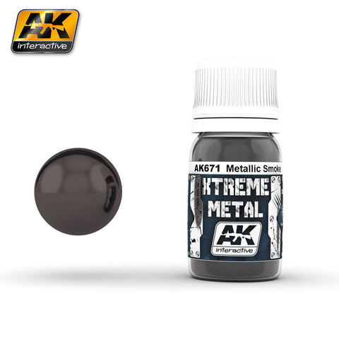 AK Interactive AK-671 Xtreme Metal Metallic Smoke 30mL enamel