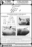 1/32 Master Model P-38 Lightning Late Armament Jackets & Cannon - AM32087