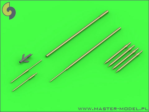 Master Model 1/48 Su-9/Su-11 Fishpot/Fishpot C Pitot Tubes & missile rails heads - AM48120