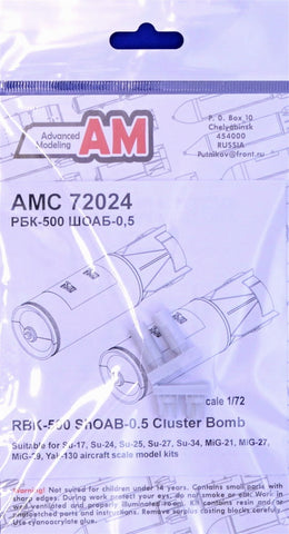 Advanced Modeling 1/72 Resin RBK-500 ShOAB-0.5 Cluster Bomb (2 pcs.) - AMC72024