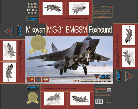 AMK Models 1/48 kit Mikoyan MiG-31 BM/BSM Foxhound Special Edition #88003-S - AvantGarde