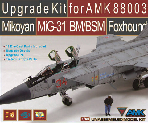 AMK Models 1/48 Upgrade set for AMK88003 Mikoyan MiG-31 Foxhound