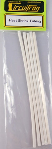 Circuitron 8708 1/8th Diameter White Heat Shrink Tubing (5pcs)