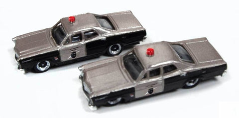 Classic Metal Works - Mini Metals N scale - 1967 Ford Highway Patrol Cars (2) #50380