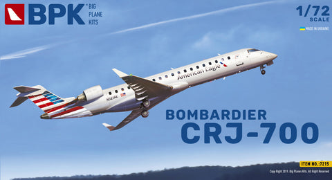 Big Planes Kits 1/72 scale Bombardier CRJ-700 - Kit 7215 American Eagle & Delta