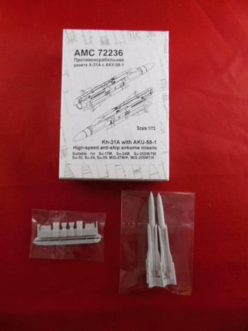 Advanced Modeling 1/72 Kh-31A with AKU-58-12 - AMC72236