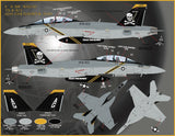 Furball Decals 1/48 Victory Super Hornets - Eight F/A-18Fs options - 48067
