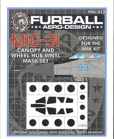 Furball 1/48 MIG-31 Vinyl Mask Set for the AMK kit - FMS023