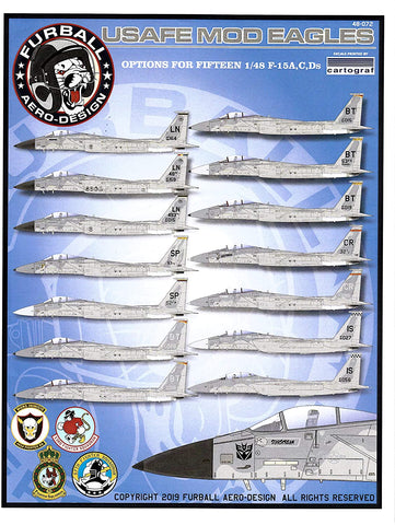 Furball 1/48 decals F-15 A/C/D Eagle USAFE Mod Eagles FUR48072