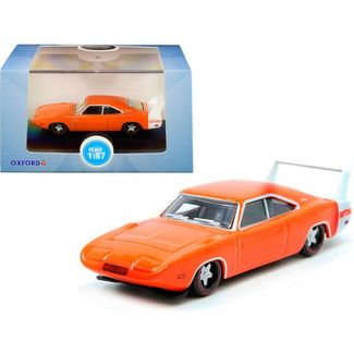 Oxford Diecast Co. 87DD69002 HO Scale 1969 Dodge Charger ( Orange & White)