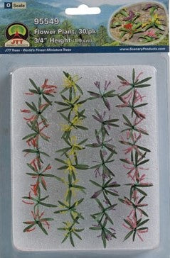 "JTT Scenery Products - O Scale - 95549 Flower Plants 3/4"" Tall (30pack)"