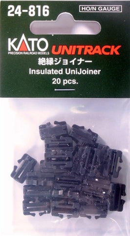 Kato #24-816 HO/N-Gauge Unitrack Insulated Unijoiner 20 pcs.