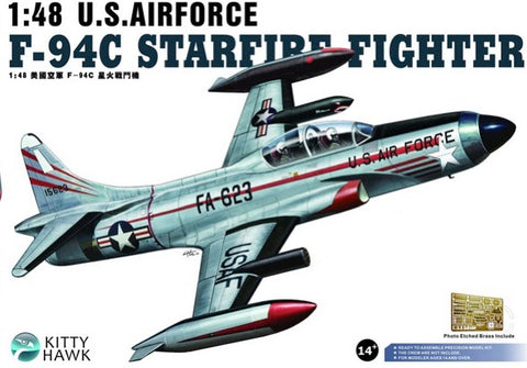 Kitty Hawk 1:48 Scale U.S. Air Force F-94C Starfire Fighter - KH80101