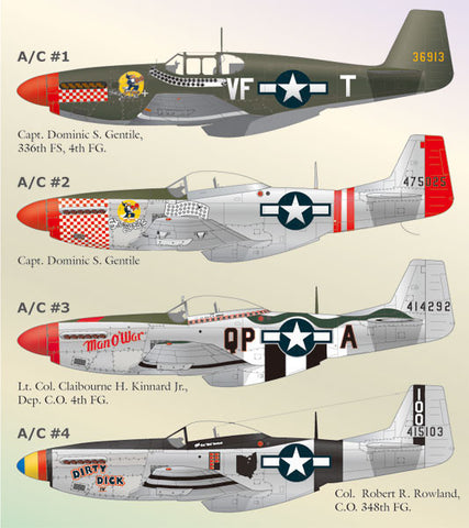 1/48 Lifelike Decals for North American P-51 Mustang P.t 4 - LLD48048