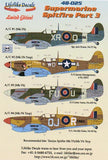 Lifelike 1/48 decal for Supermarine Spitfire Part 3 for Tamiya - 48-025