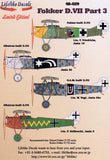 Lifelike 1/48 decal Fokker D.VII Pt 3 for Eduard & Roden - 48-029