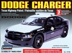 Lindberg 1/24 Scale Dodge Charger Texas Highway Patrol State Trooper - #72785