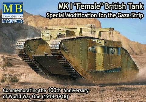 Masterbox 1/72 WWI Mk.1 Female British Tank Special Modication for Gaza Strip MB72001 - Old Stock