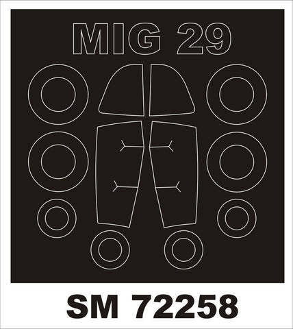 Montex 1/72 mask for MiG-29A by TRUMPETER - SM72258