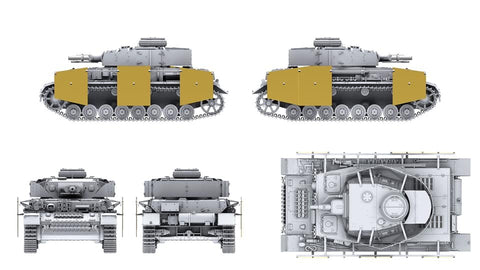 Border Model BT003 Pz.Kpfw.IV Ausf.F1 3-in-1 in 1:35