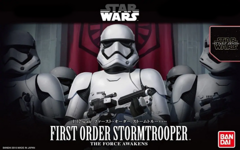 Ban Dai 1/12 FIRST ORDER STORMTROOPER (Snap)The Force Awakens - 0203217