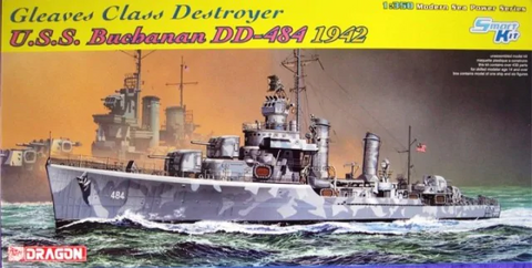 Dragon 1/350 Scale Gleaves Class Destroyer USS Buchanan DD-484 1942 - #1021