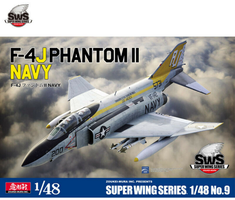 Zoukei Mura 1/48 scale F-4J PHANTOM II NAVY - SWS48-9 - assembly kit