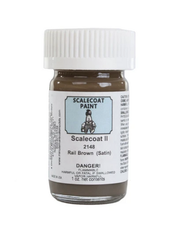 Scalecoat II  Flat Rail Brown 2 oz. Bottle - #F2148