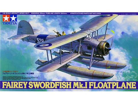 Tamiya 1/48 Scale Fairey Swordfish Mk.I Floatplane - Model Kit #61071