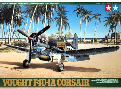 Tamiya 1/48 Scale Vought F4U-1A Corsair- Model Kit #61070