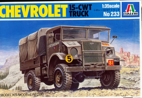 ITALERI 1/35 Scale Chevrolet 15-cwt Truck model kit #233