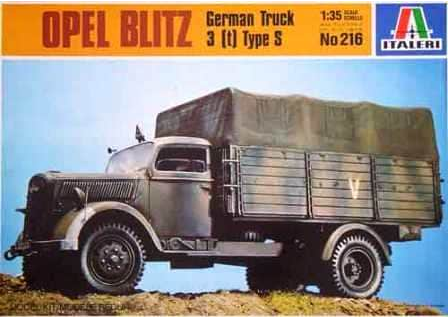 ITALERI 1/35 Scale Opel Blitz German Truck 3 [t] Type S model kit #216
